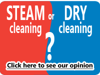 steam cleaning or dry cleaning?